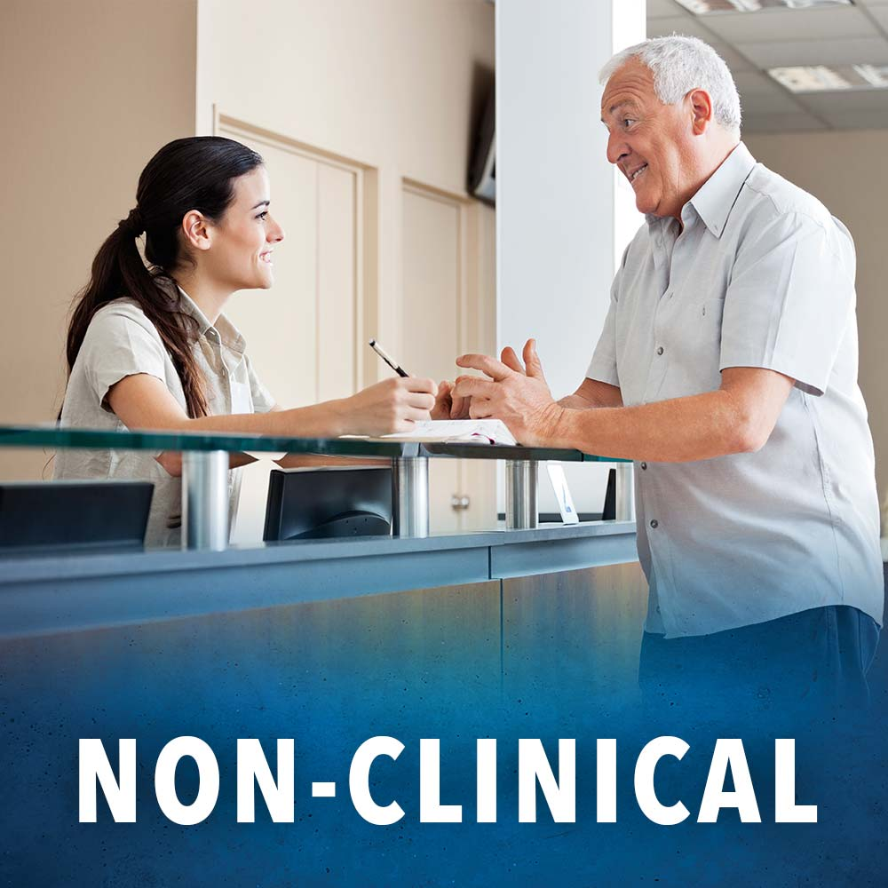 non-clinical jobs